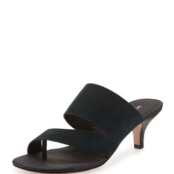 donald j pliner outlet 909p  Ruge Asymmetric Slide Sandal, Navy