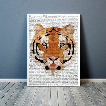 Wall decor Tiger poster Geometric art Animal print TOA81-1