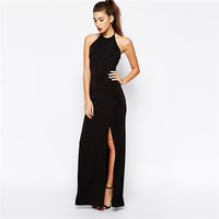 2016 Summer Fashion Maxi Dresses Deep V Neck Night Club Dress