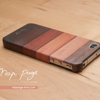 iphone 4 case , iphone 4s case , case for Iphone 4 Blackberry mobile Case handmade: Wood pattern