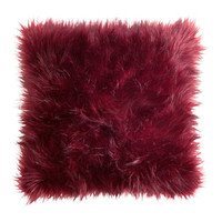 H&M - Cushion Cover in Faux Fur - Burgundy