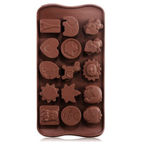 Silicone Cute Chocolate Mold & Icy Tray (Dark Brown)