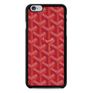 Red Goyard iPhone 6/6S Case
