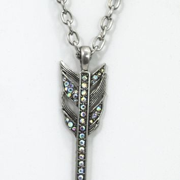 Bohemian Free Spirit Arrow - Hunger Game Oversized Arrow Pendant Necklace
