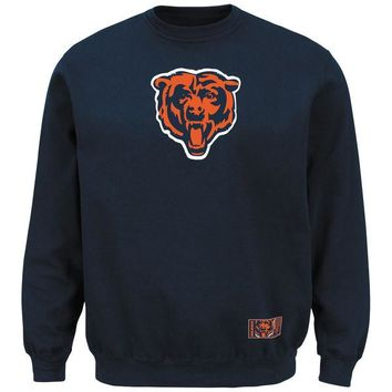 Chicago Bears Classic Heavyweight VI Navy Crew Sweatshirt
