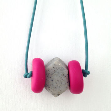 Soft Rock Necklace No. 55 | Geometric Mix