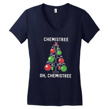 chemistree funny chemistry Women's V-Neck T-Shirt