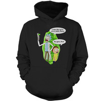 Rick And Morty - We're on a t shirt - Unisex Hoodie T Shirt - SSID2016