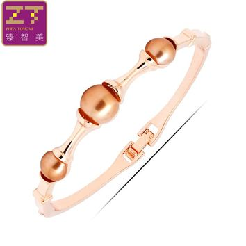 2017 Real Zhen Tomomi Geometric Exquisite Color Charming Simulated-pearl Minimalism Round Fashion Bracelets And Bangles Jewelry