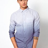 River Island Oxford Shirt in Dip Dye at asos.com