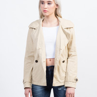 Buttoned Front Utility Jacket