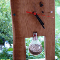 Custom Handcrafted Rustic Wooden Wall Clock.Eco friendly. Solid wood OAK.