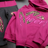 Pullover Hoodie + Yoga Pants - Cheer Leopard Combo