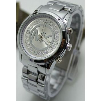 MK MICHAEL KORS men and women fashion quartz watch F-YF-GZYFBY Silver