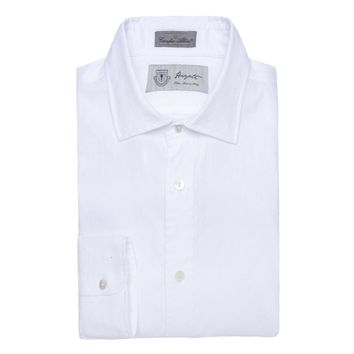 Albini Luxe Dobby Dress Shirt in White