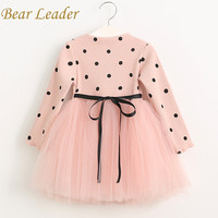 Bear Leader Girls Dress Princess Dress  Brand Girls Dress Children Clothing Ball Gown Dot Print Kids Clothes Girls Dresses