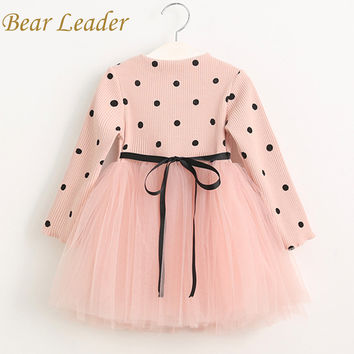 Bear Leader Girls Dress 2017 Casual Girls Dress Children Clothing Ball Gown Dot Print Kids Clothes Girls Dresses Princess Dress