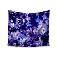 "Ebi Emporium ""Floral Fantasy"" Purple Wall Tapestry"