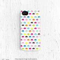 Cute iPhone 5 case Kawaii iPhone 4 case, clouds iphone 4 case rain with clouds iphone 5 case colorful lovely pretty unique iphone case /c116