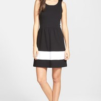 Women's kensie Sleeveless Ponte Fit & Flare Dress,