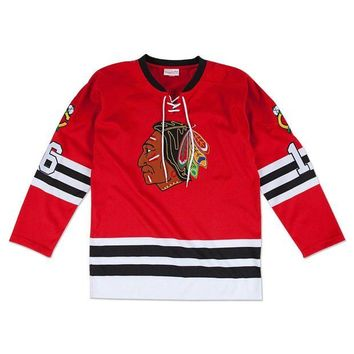 VON3TL Mitchell Ness Bobby Hull 1960961 Authentic Jersey Chicago Blackhawks In Scarlet