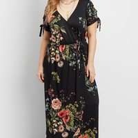 plus size maxi with tied sleeves | maurices