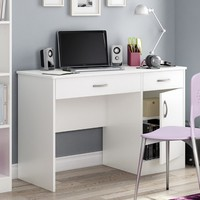 South Shore Axess Collection 47W in. Small Desk - Pure White | www.hayneedle.com