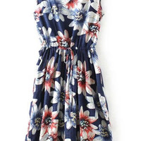 Printed Retro Sweet Knee-length Dress