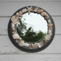 Porthole Seashell Mirror/Beach House Decor/Seashell Wall Decor