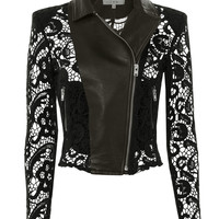 Lace Moto Leather Jacket