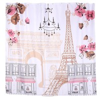 Polyester Fabric Shower Curtain Waterproof Home Bathroom Curtains Butterfly orchid purple bath crutain for the bathroom1.8X1.8