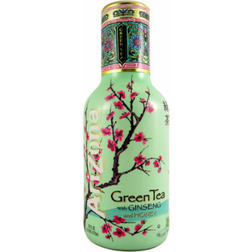 Arizona Green Tea with Ginseng and Honey 20 Oz Glass Bottle Pack of 12