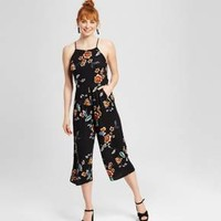 Women's Floral Jumpsuit Black - Xhilaration™ (Juniors')