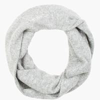 Alexander Wang Grey Melange Cashmere Twisted Donegal Snood for women | SSENSE