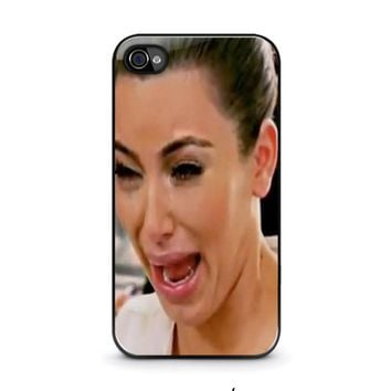 kim kardashian ugly crying face iphone 4 4s case cover  number 1