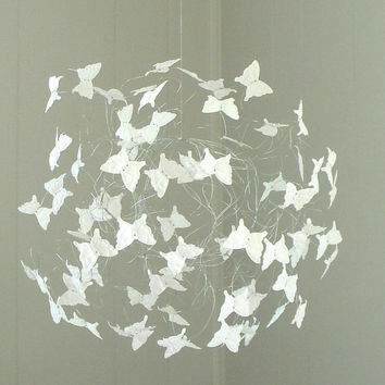 Butterfly Mobile, Baby Shower Gift, Nursery Mobiles, Modern Butterfly Mobiles, Baby Crib Mobiles, Butterfly Decoration