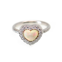 Dior Opal Diamond White Gold Heart Ring