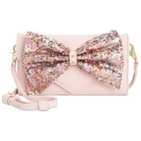 Betsey Johnson Macy's Exclusive Bow Sequin Wallet Crossbody | macys.com