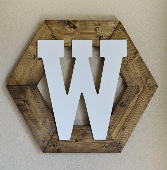 Rustic wall wreath wall decor with from willowandroseco on etsy - Wood letter wall decor ...