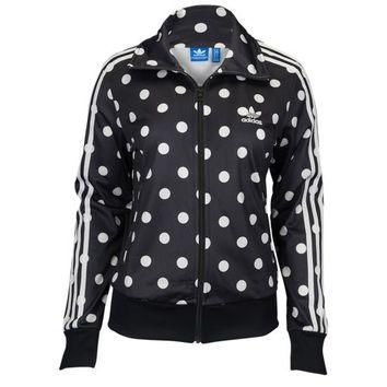 adidas Originals Dots All Over Print Firebird Track Top - Women's at Lady Foot Locker