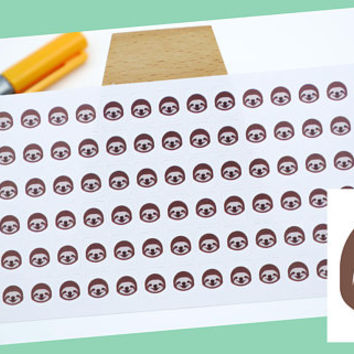 PLANNER STICKER || sloth face || animal stickers || small colored icon | for your planner or bullet journal
