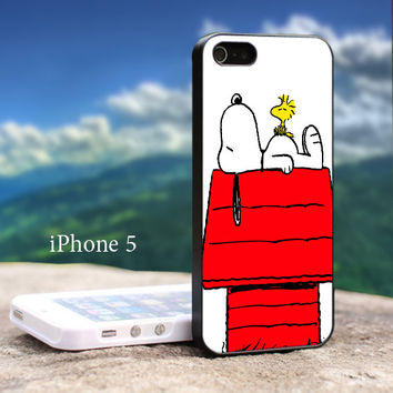 Snoopy Woodstock For iphone 5 Black Case