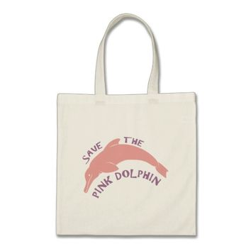 Save the Pink Dolphin Tote Bag