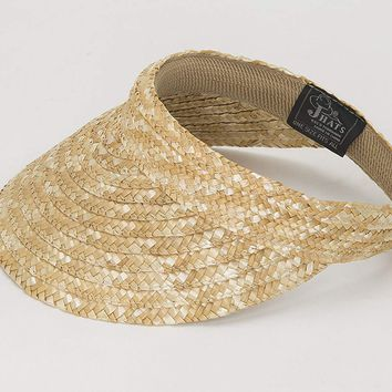Jacobson Straw Hat - Slip On Braid Visor,Tan,Adult