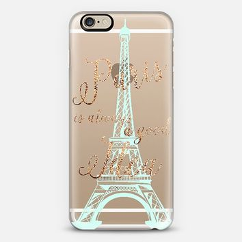 I LOVE PARIS by Monika Strigel Faux Glitter iPhone 6 case by Monika Strigel | Casetify
