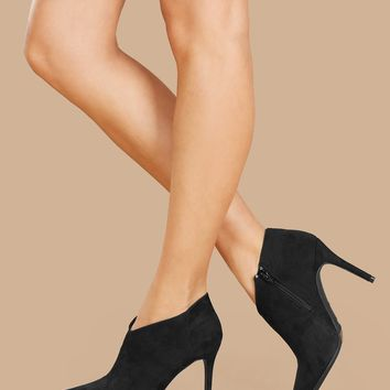 Pointed Toe Stiletto Heel Ankle Booties