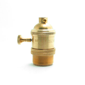 Brass Copper Keyed Lamp Holder