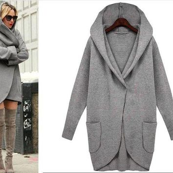 DCCKHQ6 Fashion Long-Sleeved Cardigan Jacket