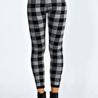Roxx Plaid Knitted Leggings