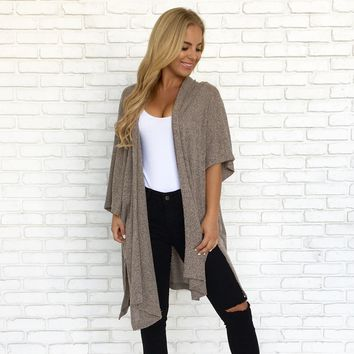 Brown Eyed Girl Speckle Knit Cardigan